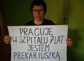 Barbara Rosołowska, pielęgniarka, Lubuska Komisja Międzyzakładowa OZZ IP. Akcja JA PREKARIUSZKA / JA PREKARIUSZ