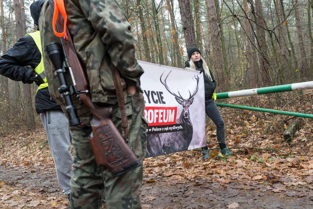 Blokada polowania. Fot. Jakub Szafrański, 2017