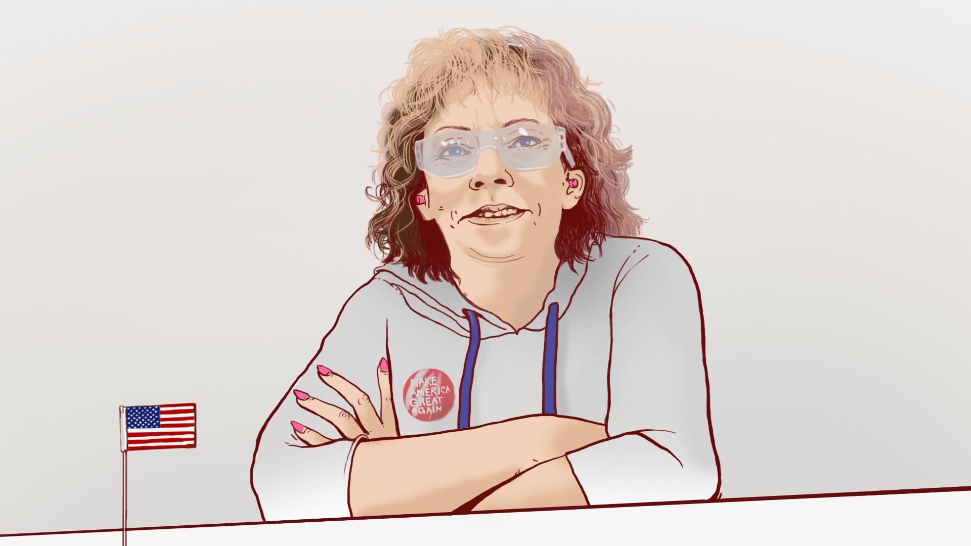 Debbie Dooley. Współzałożycielka Tea Party. Ilustracja Anna Pluta.