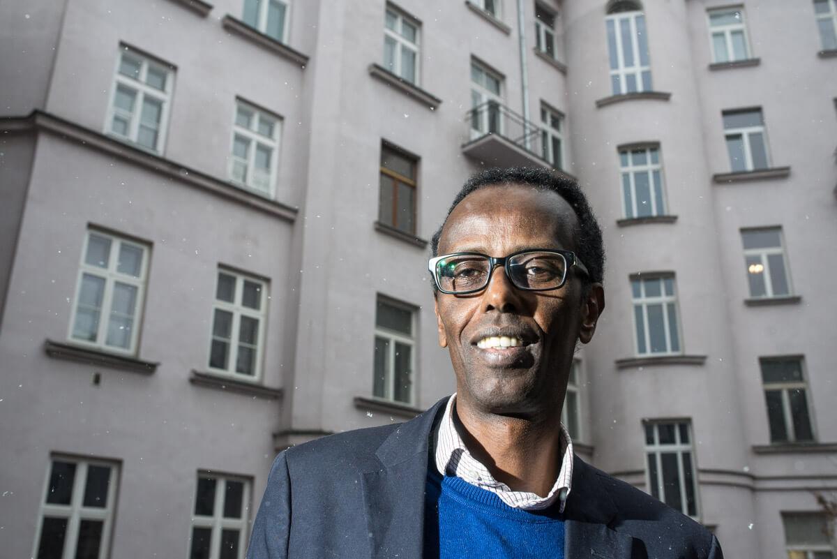 Elmi Abdi, prezes Fundacji dla Somalii. Fot. Jakub Szafrański.