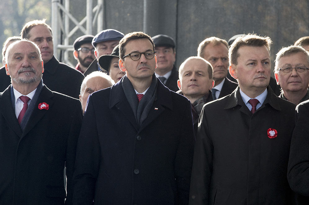 Macierewicz, Morawiecki, Błaszczak