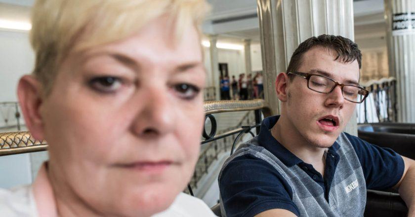 Sejm. Protest opiekunów osób niepełnosprawnych. Fot. Jakub Szafrański