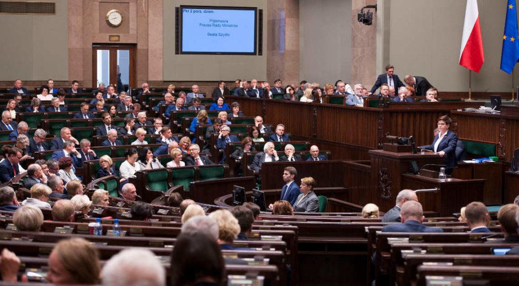 Wystąpienie Beaty Szydło w Sejmie