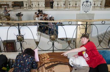 Okupacja Sejmu przez rodziców osób niepełnosprawnych, 19 kwietnia 2018 Fot. Jakub Szafrański