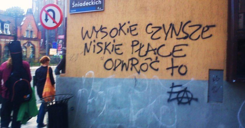 Graffiti w Poznaniu: Wysokie czynsze, niskie płace