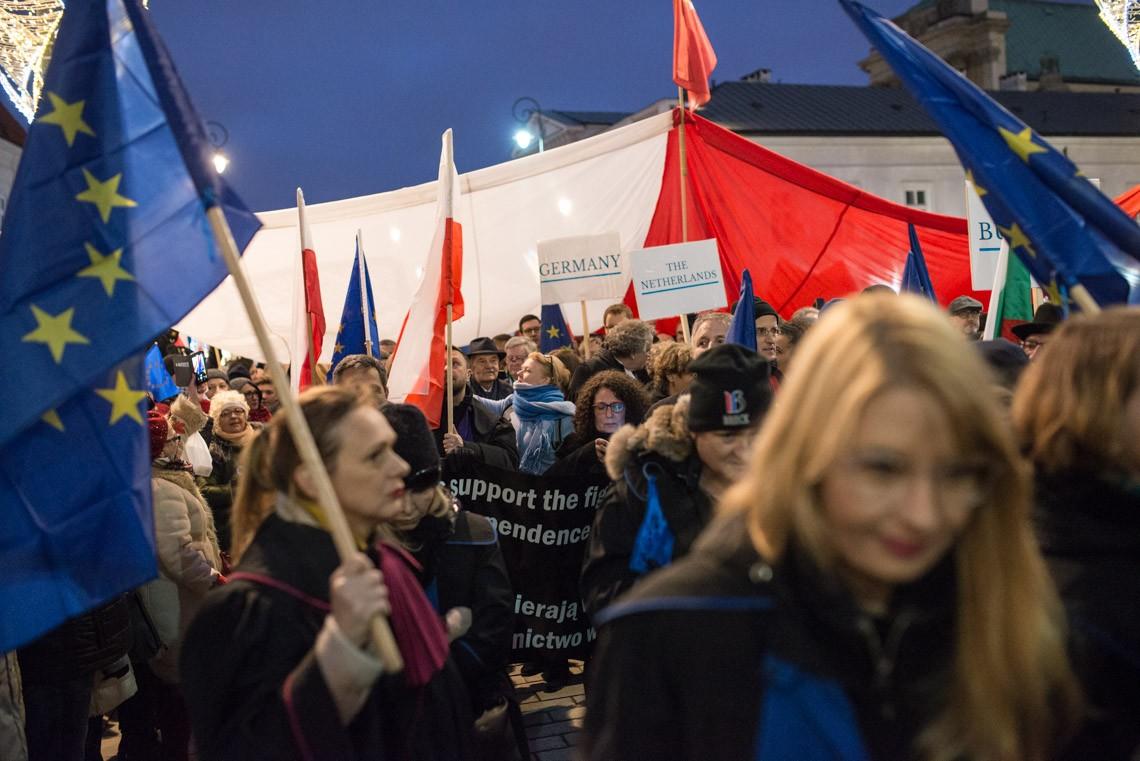 Marsz tysiąca tóg. Fot. Jakub Szafrański