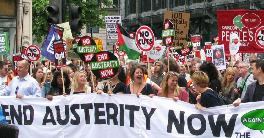 Protest przeciwko polityce oszczędności, Londyn 2015