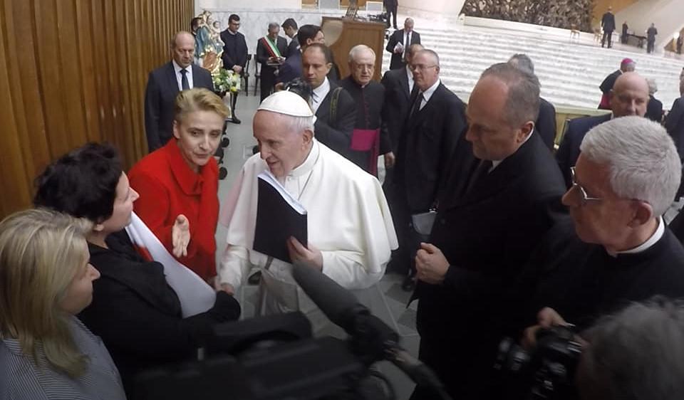 Spotkanie w papieżem Franciszkiem