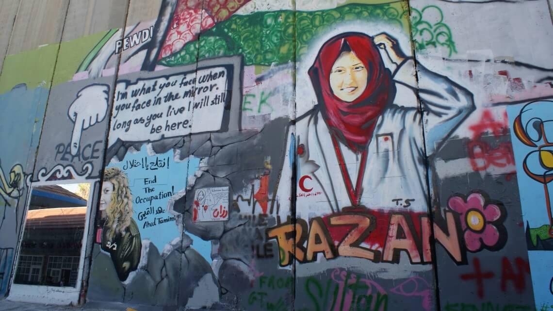 Mural w Betlejem (Zachodni Brzeg). Fot. Dalia Mikulska