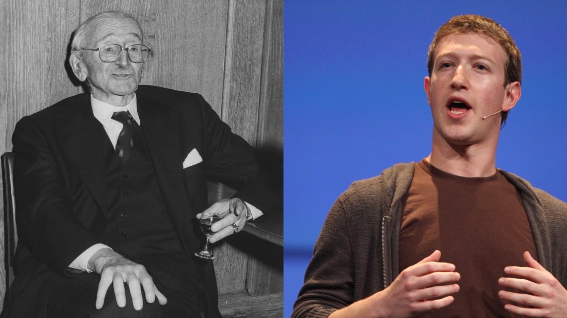 Friedrich von Hayek i Mark Zuckerberg