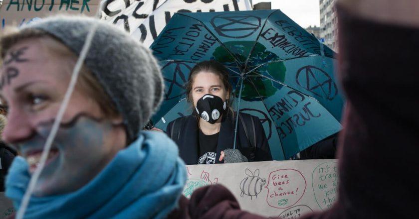Marsz dla klimatu w Katowicach, COP24. Fot. Jakub Szafrański