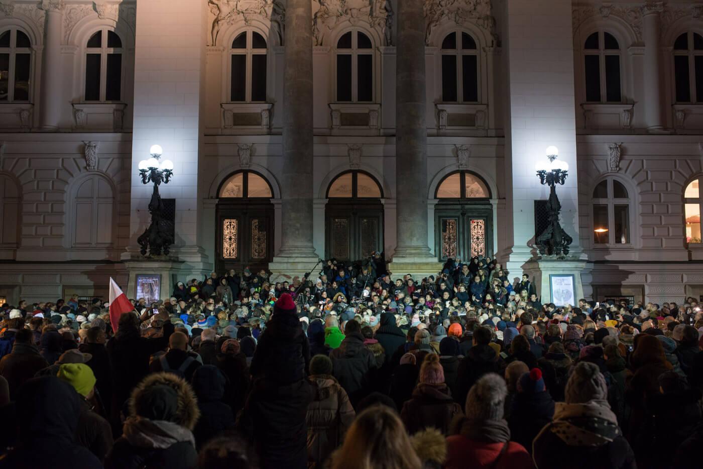 """Marsz """"Stop Nienawiści"""", Warszawa 14 stycznia 2019. Fot. Jakub Szafrański"""