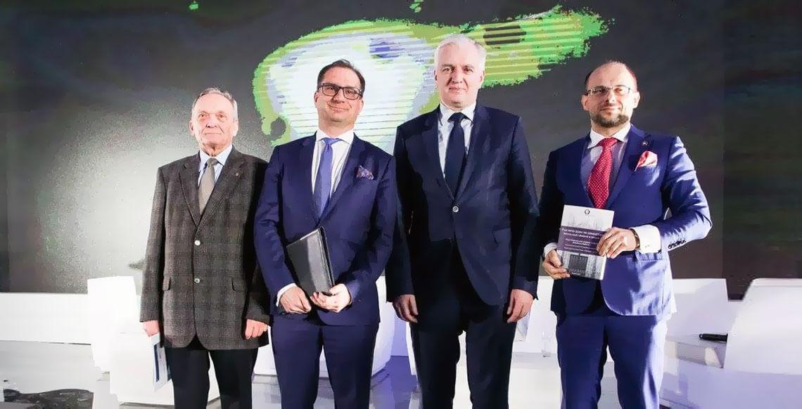 Hubert Izdebski, Marek Kwiek, Jarosław Gowin, Arkadiusz Radwan. Fot. Ministerstwo Nauki i Szkolnictwa Wyższego, Facebook.com
