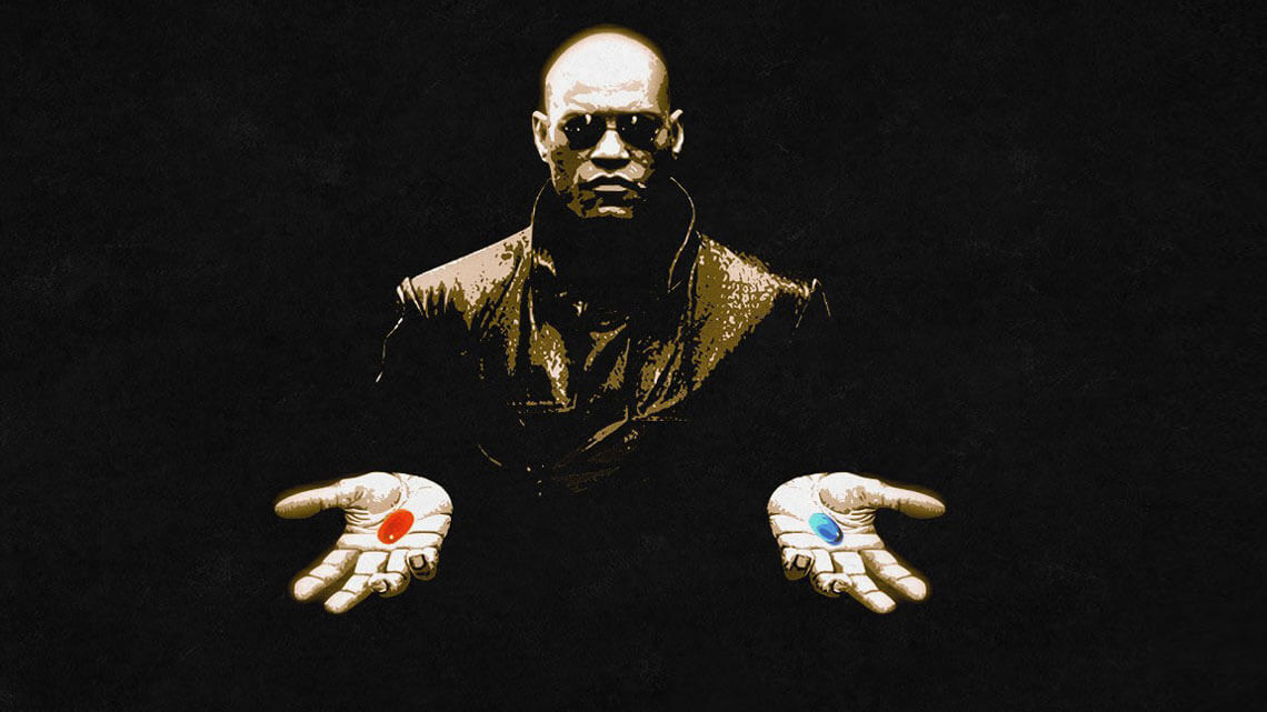 "Kadr z filmu ""Matrix"". Fot. za shamelesspride.com"