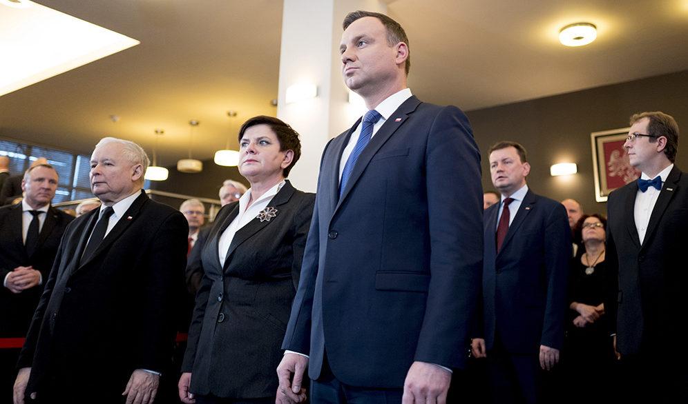 Jarosław Kaczyński, Beata Szydło, Andrzej Duda