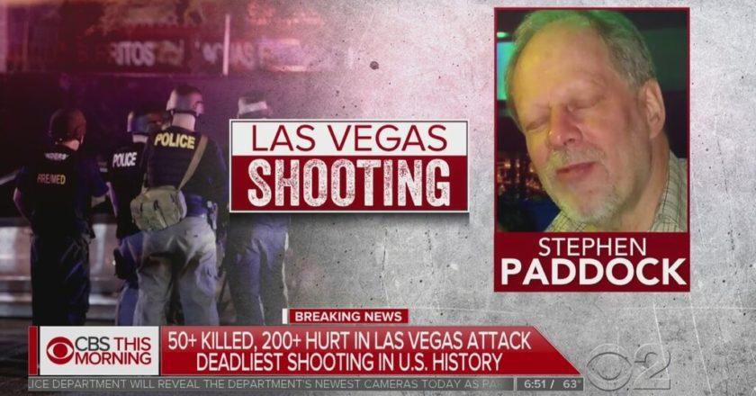 Stephen Paddock zamordował 58 i zranił ponad 500 ludzi podczas strzelaniny na koncercie w Las Vegas. Fot. kadr CBS.