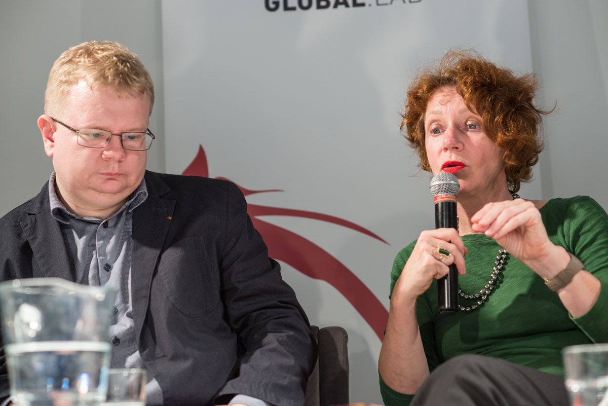 Michał Sutkowski, Ulrike Guerot. Fot. Jakub Szafrański