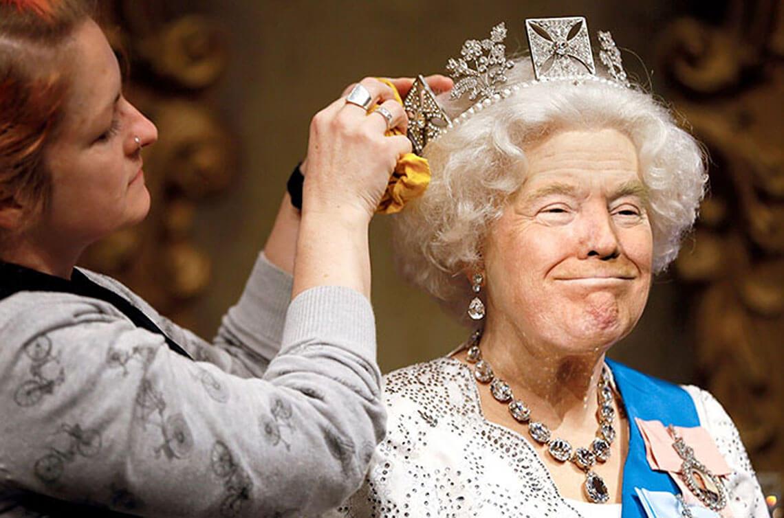 donald-trump-królowa