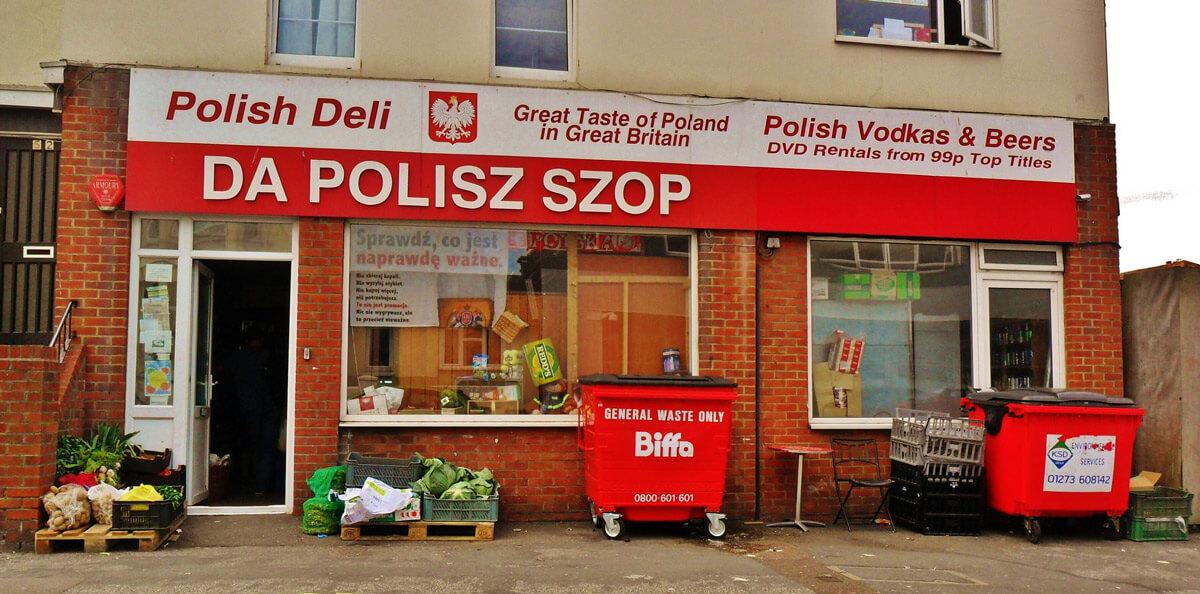 Polski sklep w Eastbourne, Wielka Brytania. Fot. grassrootsgroundswell, flickr.com