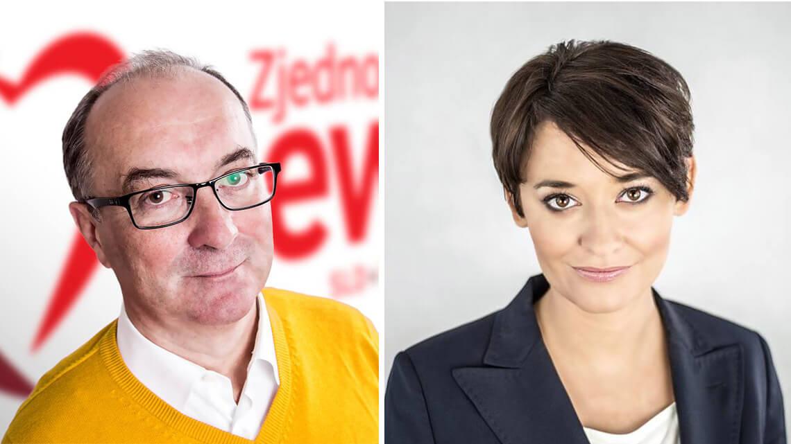 Włodzimierz Czarzasty, przewodniczący SLD i Anna-Maria Żukowska, rzeczniczka prasowa partii. Fot. Facebook.com