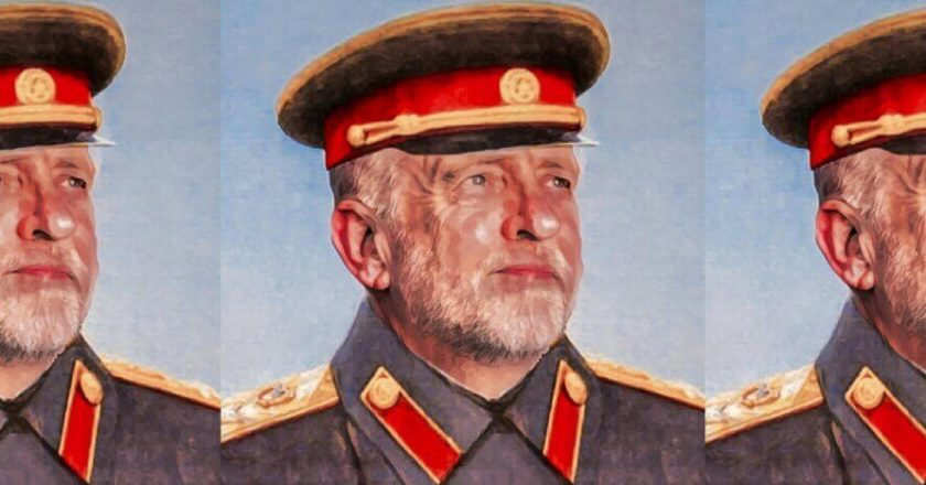 "Kolaż na podstawie ""Grand Marshal Corbyn's Patriotic Meme Collective"" via Facebook.com"