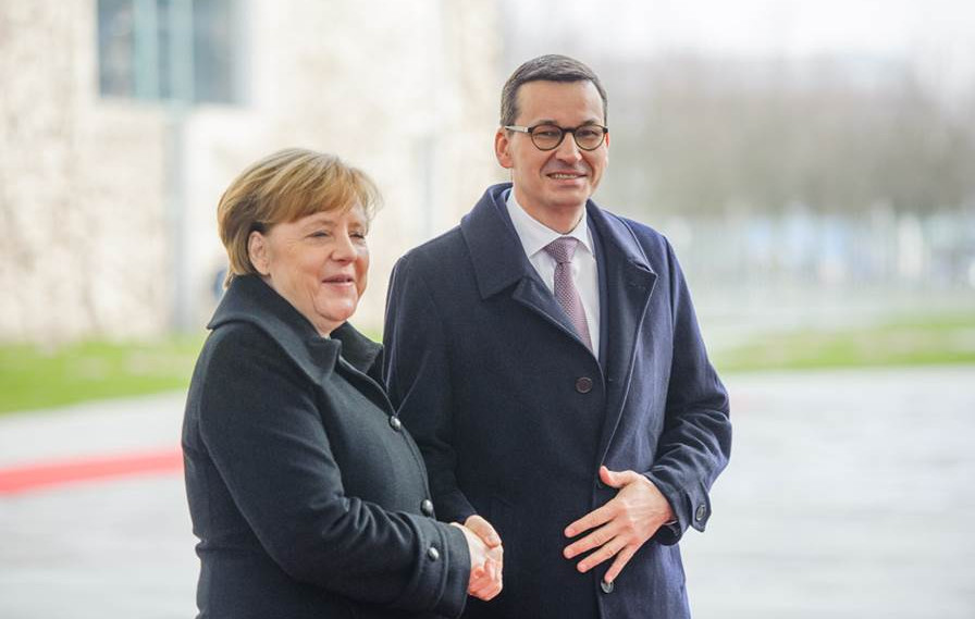 Merkel, Morawiecki