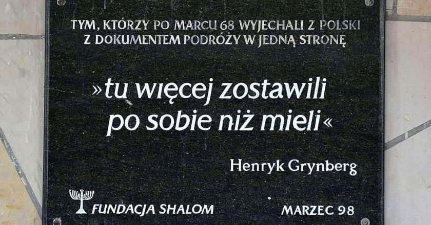 Tablica_Marzec_1968_Dworzec_Gdański