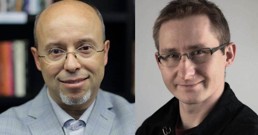 Andrzej Leder, Sławomir Sierakowski. Fot fot. Grzegorz Mehring / ECS, Krytyka Polityczna