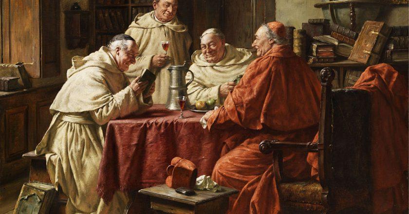 Fritz Wagner, Kardynał z mnichami w klasztornej bibliotece. Fot. wikipedia, domena publiczna