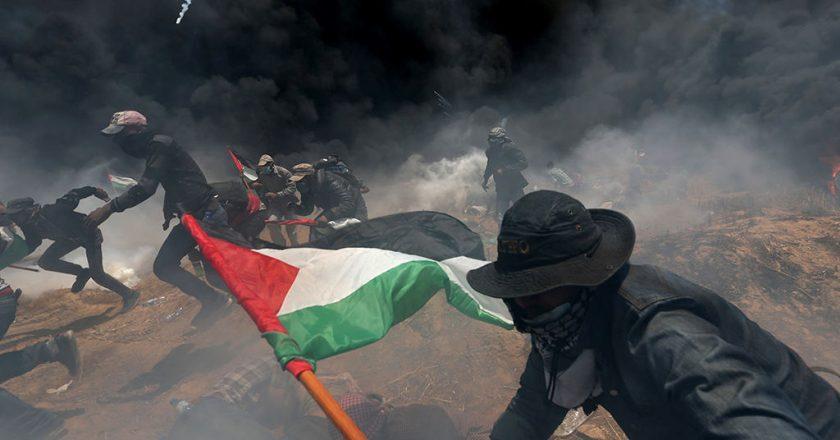 Strefa gazy, 14 maja 2018. Fot. Jordi Bernabeu Farrús, flickr.com