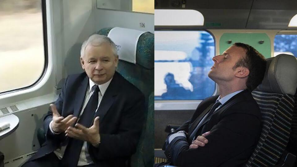 Kaczynski-Macron-pociag