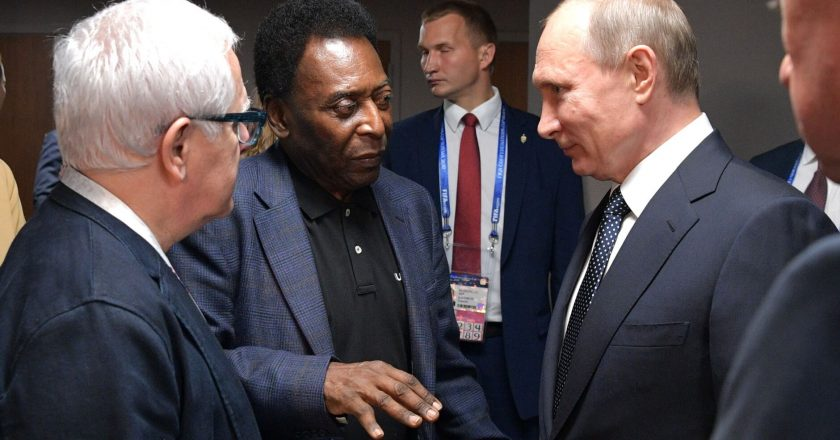 Pele i Władimir Putin. Fot. Kremlin.ru