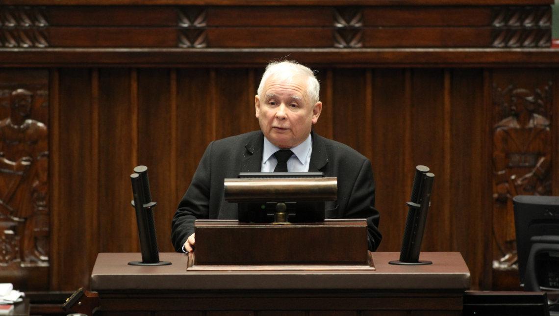 Jarosław kaczyński. Fot. Kancelaria Sejmu/Krzysztof Białoskórski