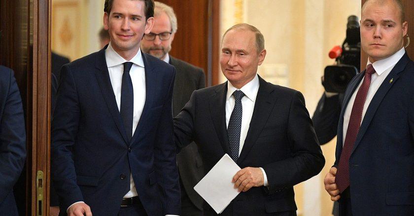 Sebastian Kurz i Wladimir Putin. Fot. Kremlin.ru