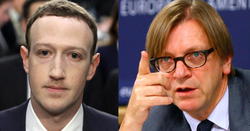 Mark Zuckerberg, Guy Verhofstadt