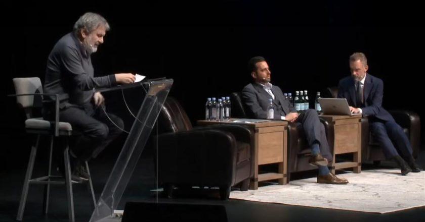 Debata Slavoja Žižka z Jordanem Petersonem. Fot. screen YouTube