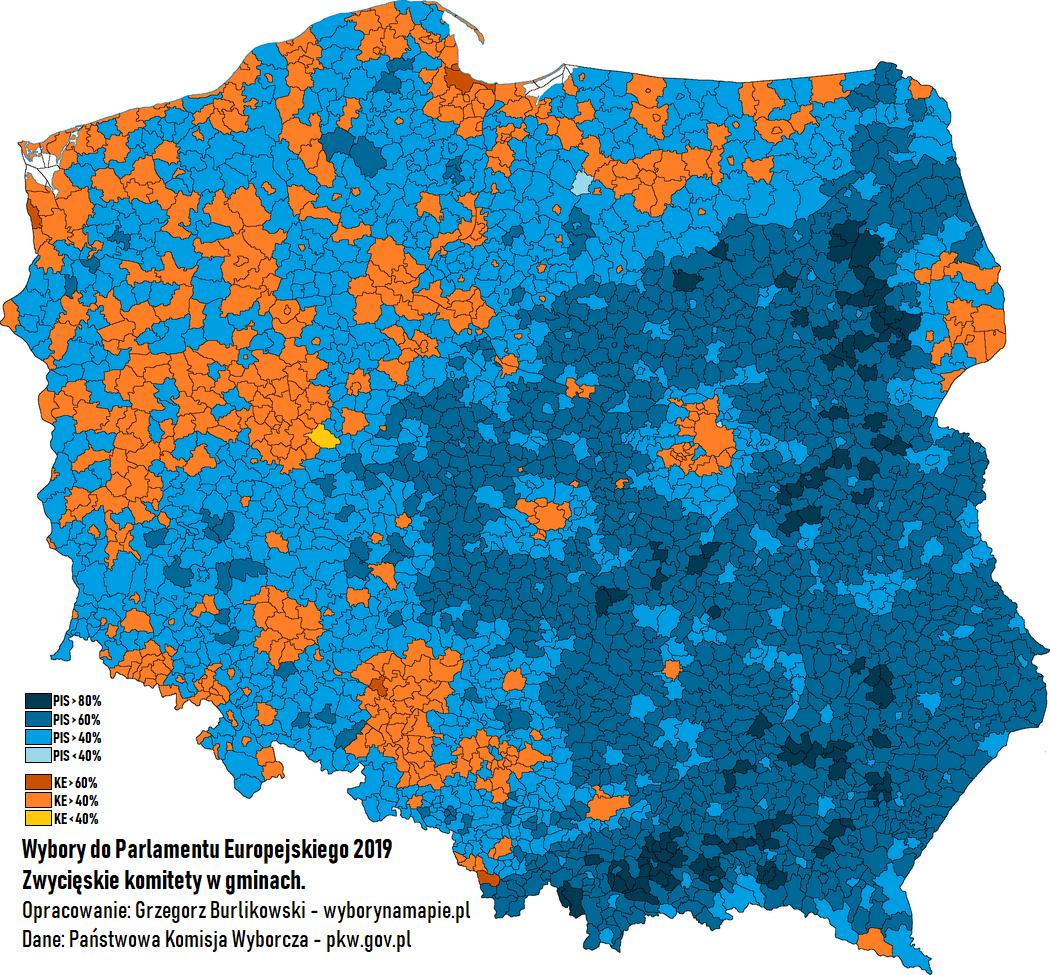 wyniki eurowyborow gminy