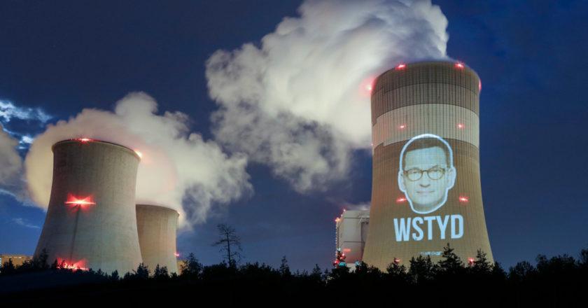 Akcja Greenpeace w Bełchatowie. Fot. Rafał Milach
