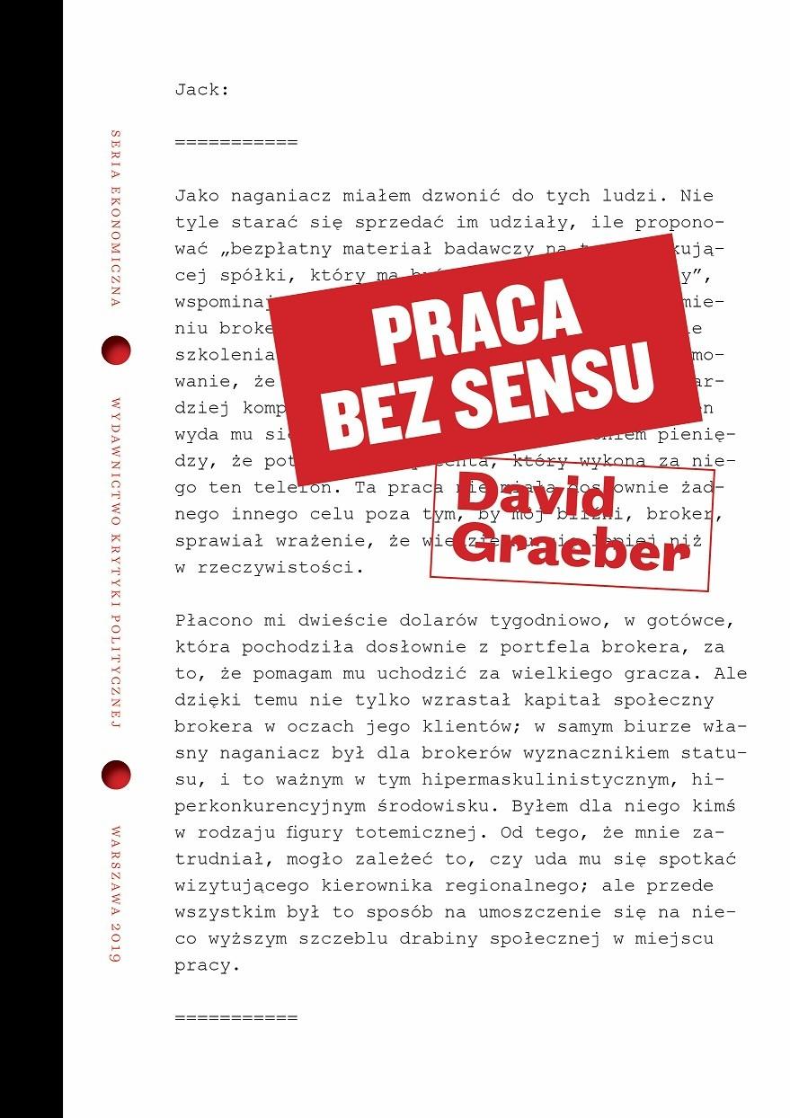 David Graeber: Praca bez sensu. Teoria