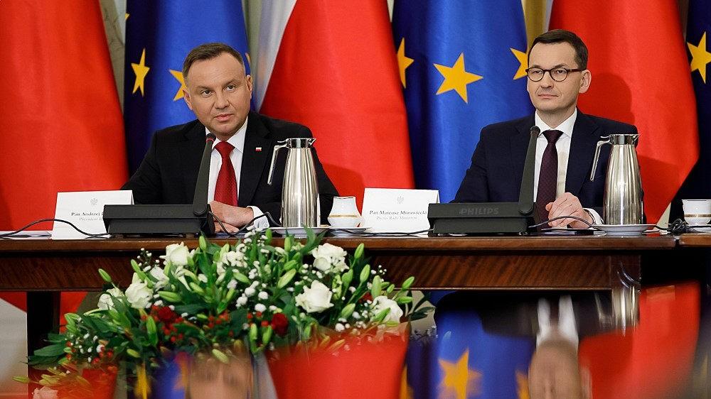 Andrzej Duda, Mateusz Morawiecki. Rada gabinetowa. Fot. Krystian Maj / KPRM