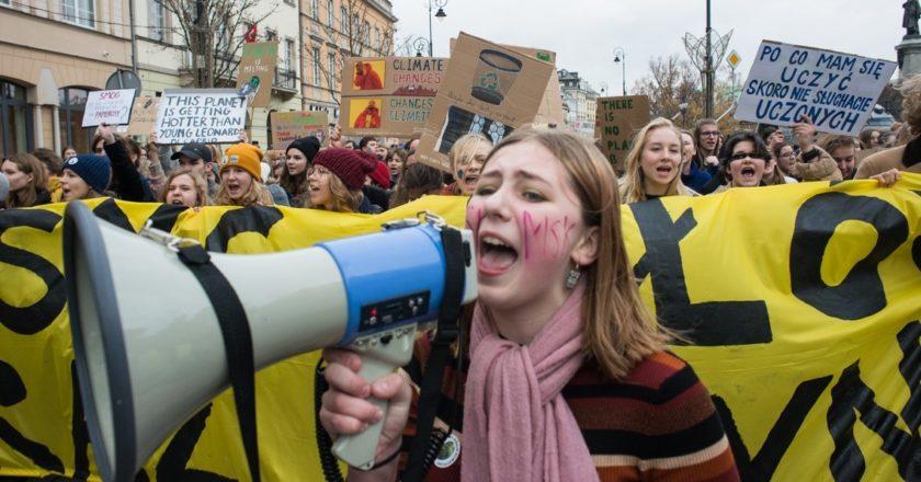 Młodzieżowy Strajk Klimatyczny. Fot. Jakub Szafrański