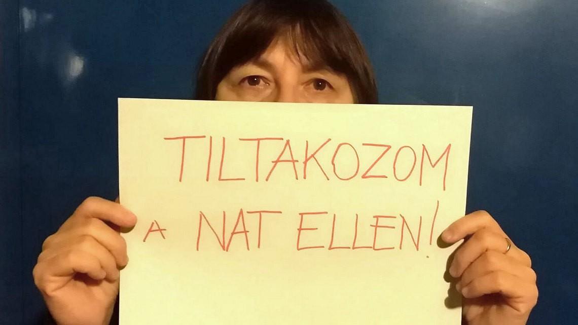 Protest węgierskich nauczycielek. Fot. facebook/PDSZ