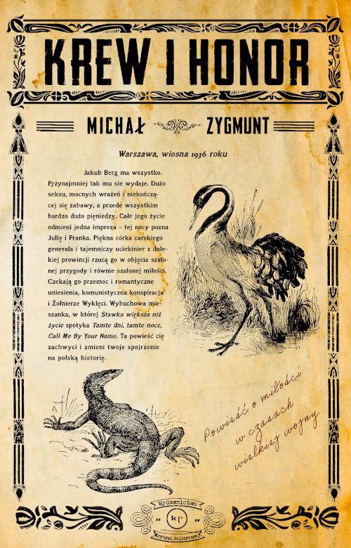 Michał Zygmunt, Krew i honor