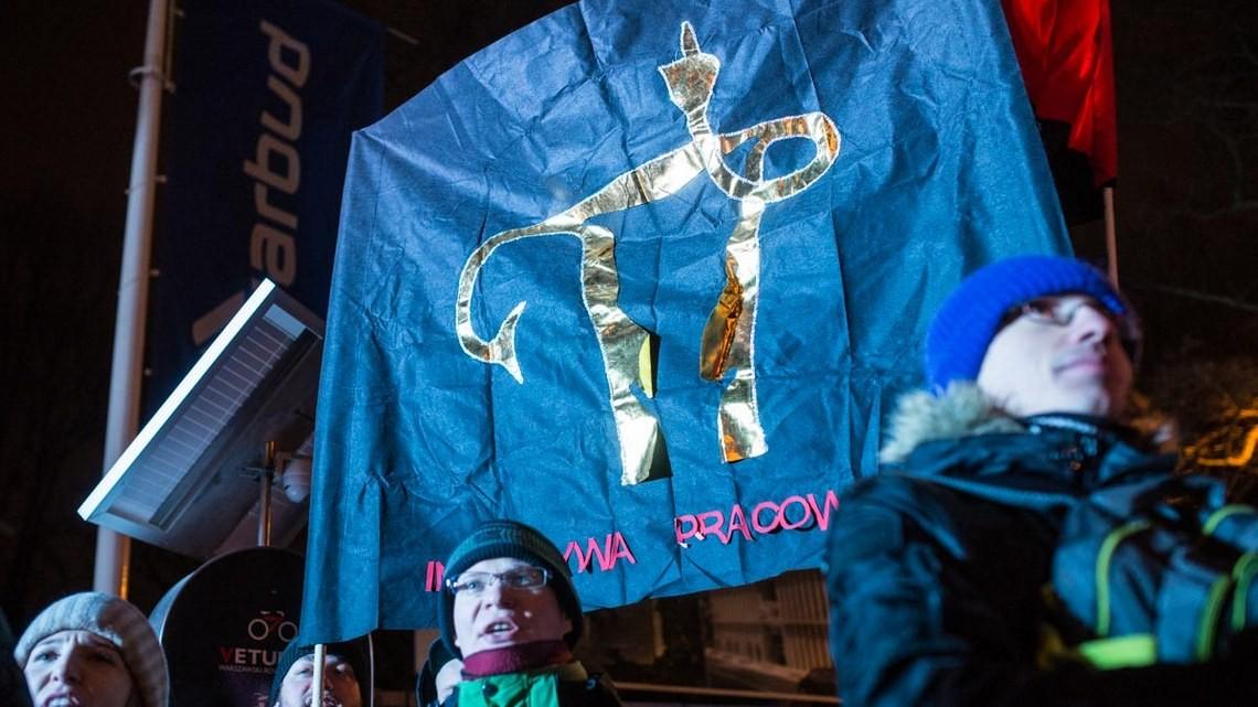 Protest przeciwko zaostrzaniu prawa dostępu do aborcji. Fot. Jakub Szafrański