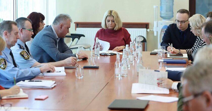 Spotkanie zespołu kryzysowego w Świdnicy Fot. facebook.com/beata.ms