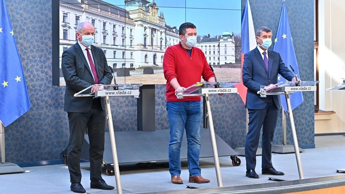 Konferencja prasowa czeskiego rządu. Fot. vlada.cz
