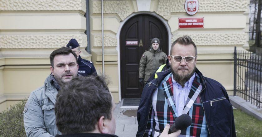 Strajk przedsiębiorców pod KPRM Fot. Monika Bryk