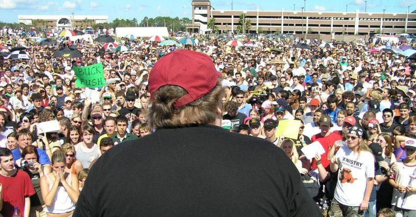Michael Moore. Fot. Brave New Films/flickr.com