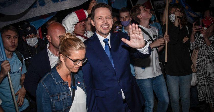 Rafał Trzaskowski po debacie w TVP. Fot. Dawid Krawczyk