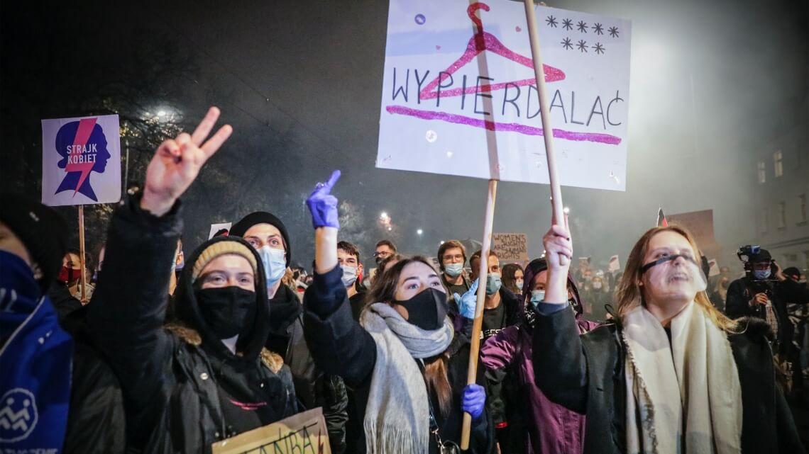 Protest w Warszawie, 22 października 2020. Fot. Monika Bryk